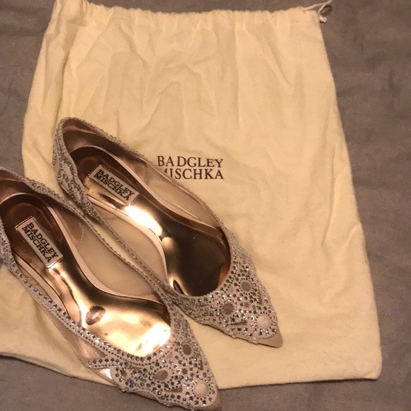 ce5cb0f4322d Badgley Mischka Shoes | Gigi Pointed Toe Evening Flats | Poshmark